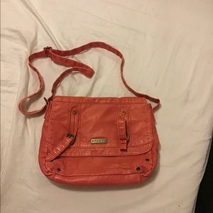 Roxy Peach super soft leather handbag
